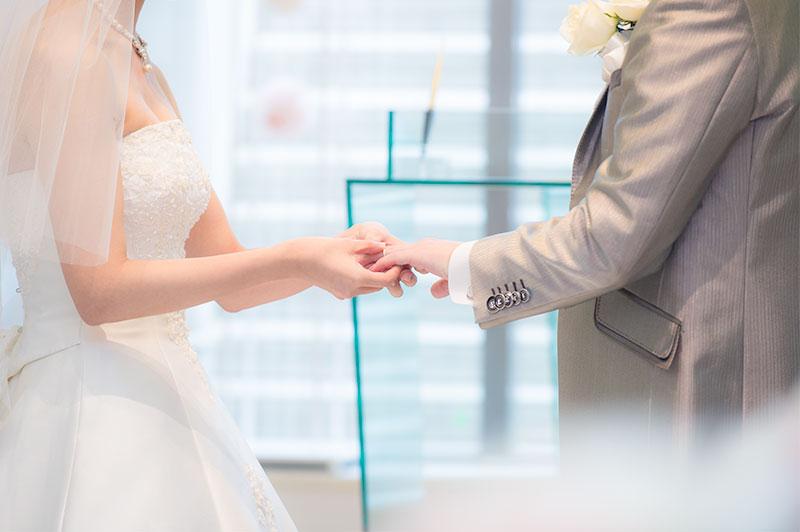 結婚式の写真の作例