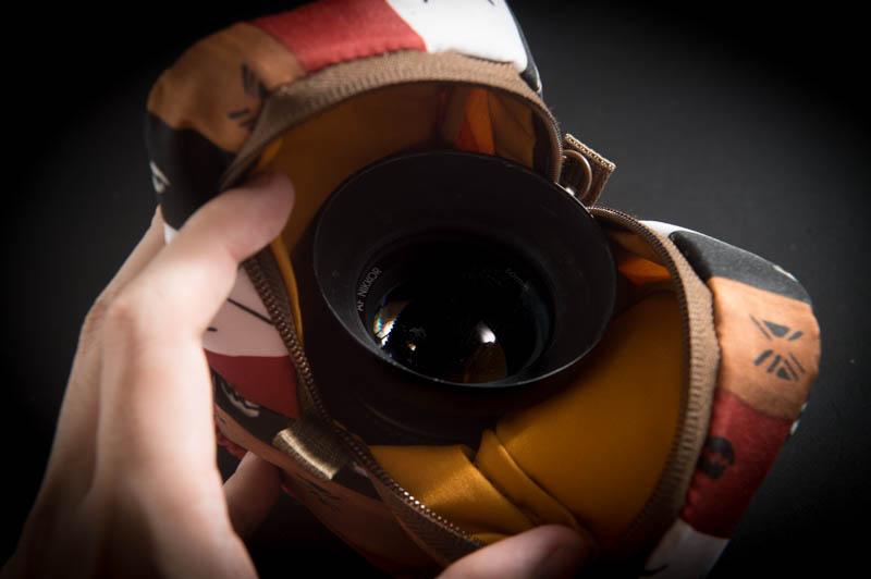 単焦点レンズの収容にも使える