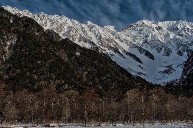 冬の穂高連峰