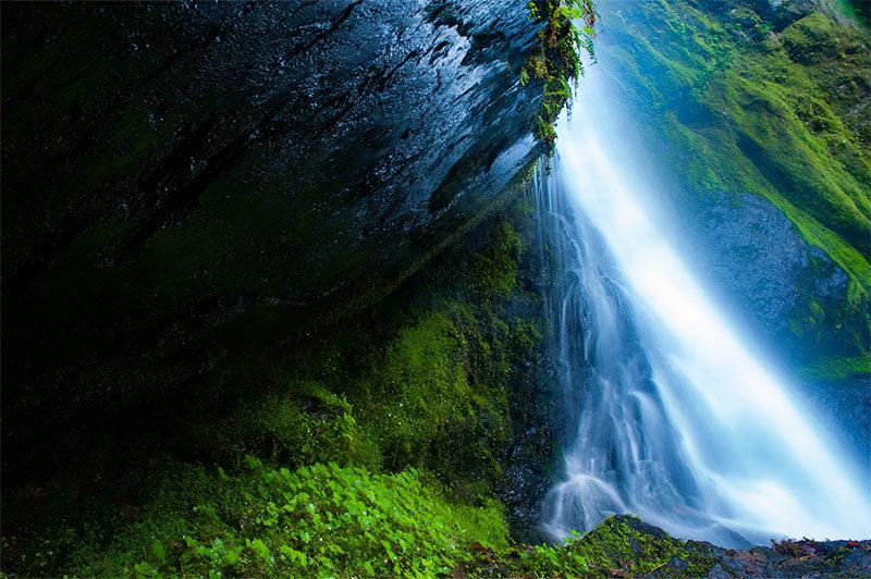 大滝の特徴を捉えた写真