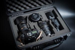 ペリカンケースに収納する撮影機材