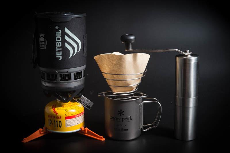 コーヒー用登山用品一式