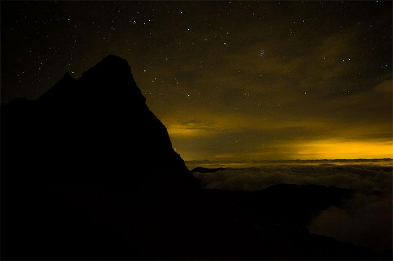 深夜の槍ヶ岳