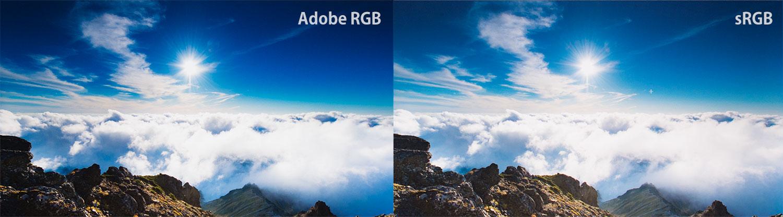 AdobeRGBのブルーの表現