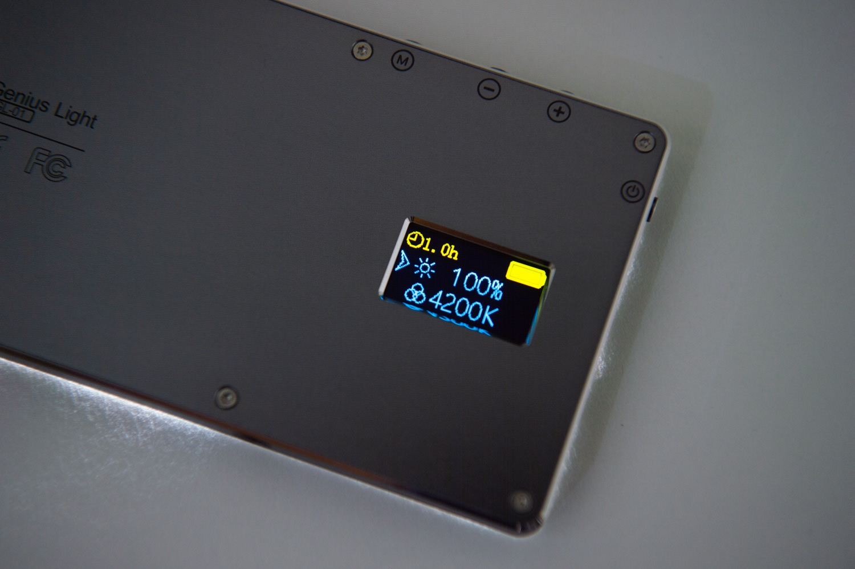 Iwata Genius Light GL-01の液晶画面