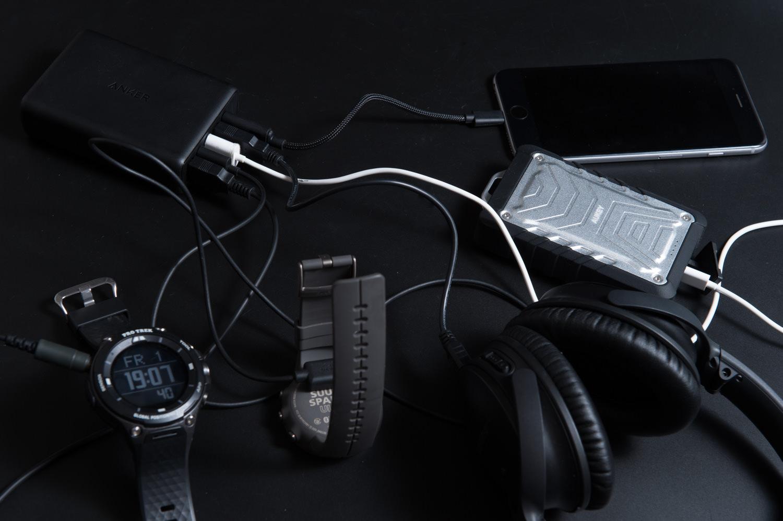 USB充電と登山用品