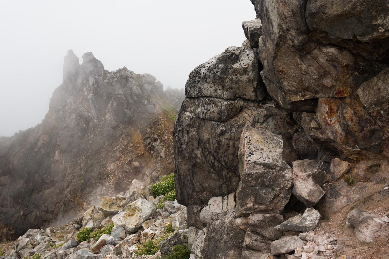 岩稜が少ない