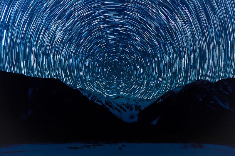 星を撮影するバルブ撮影