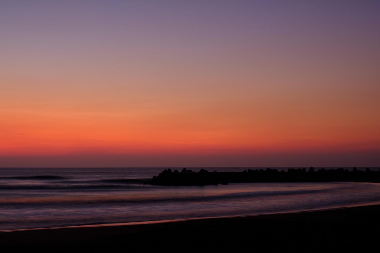 夜明けの一宮海岸