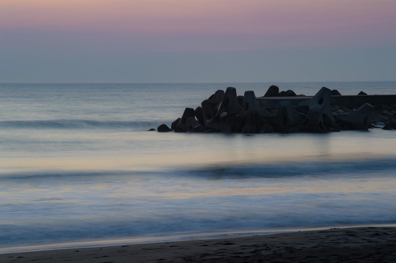 海の長時間露光