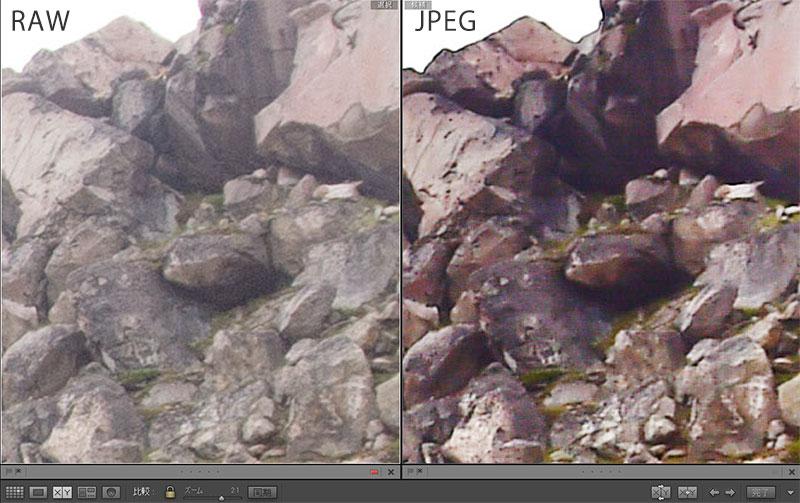 JPEGはRAWに比べて画質が劣化しやすい