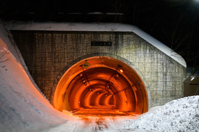 夜の釜トンネル