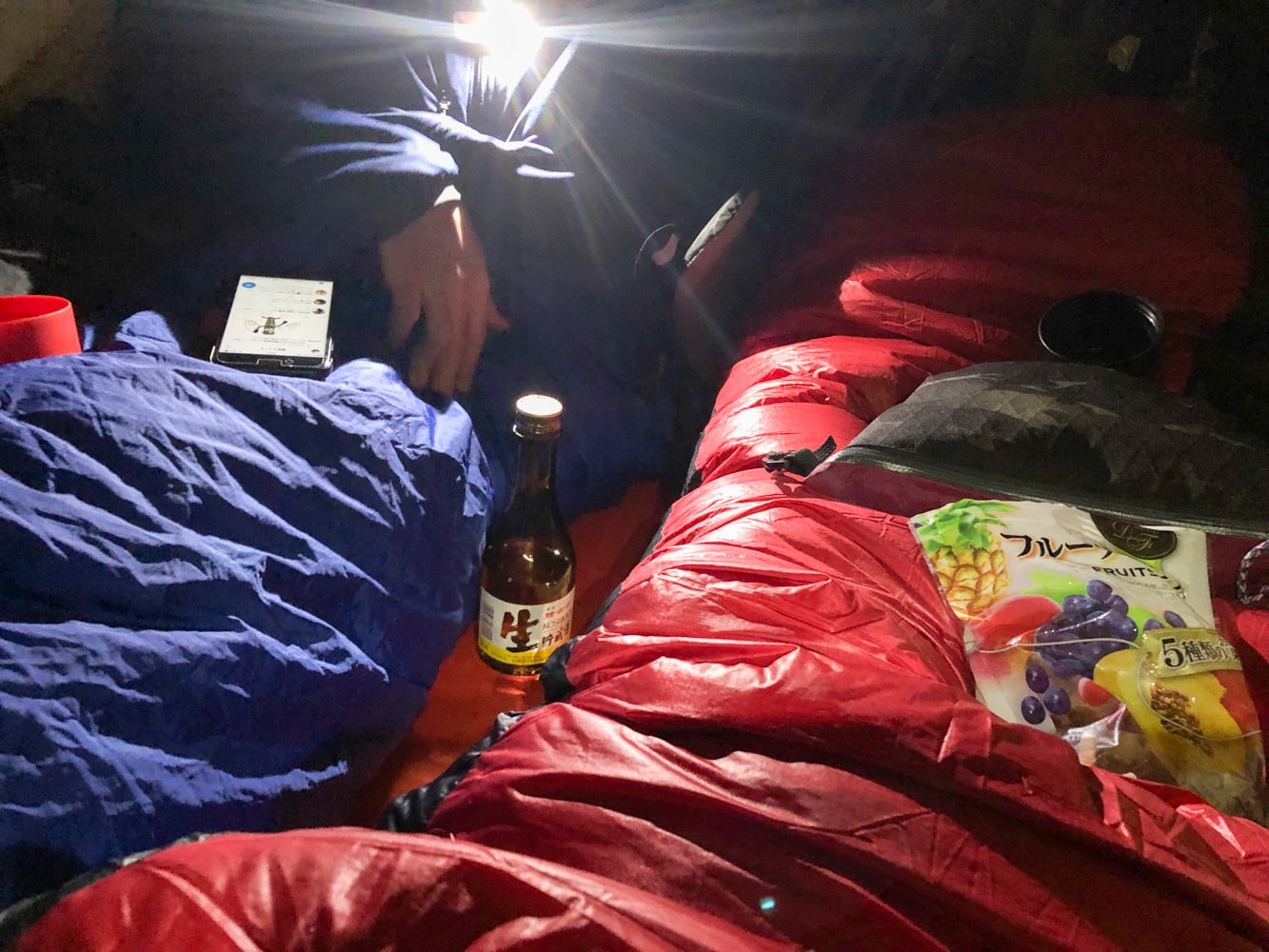厳冬期のテント泊