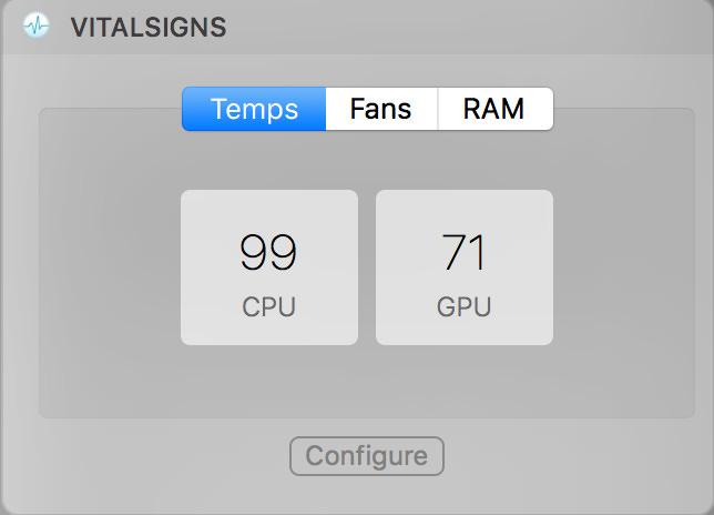 Macbookpro2017 15インチの発熱問題