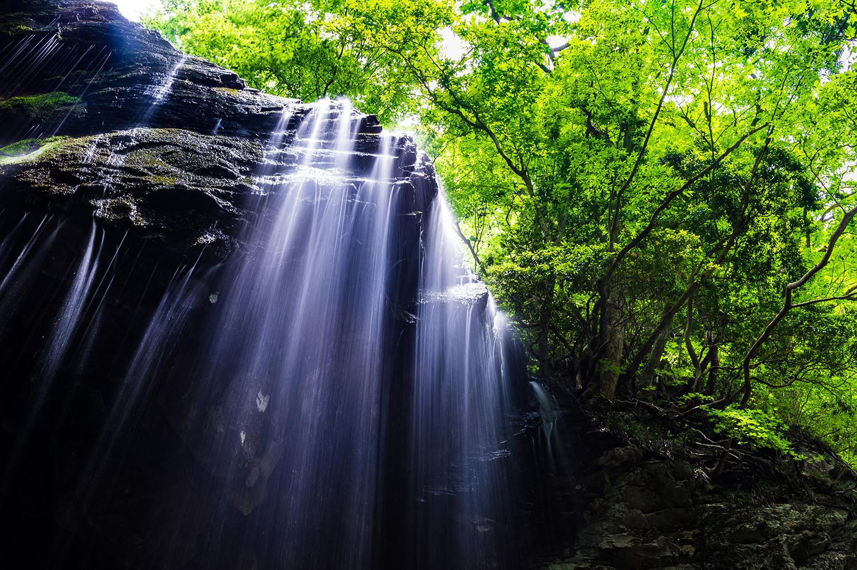 正午前の岩井滝