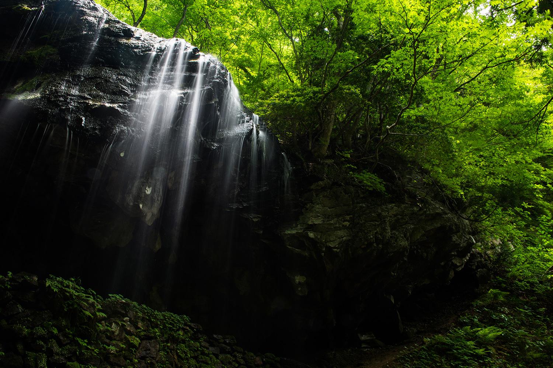 午前中の岩井滝