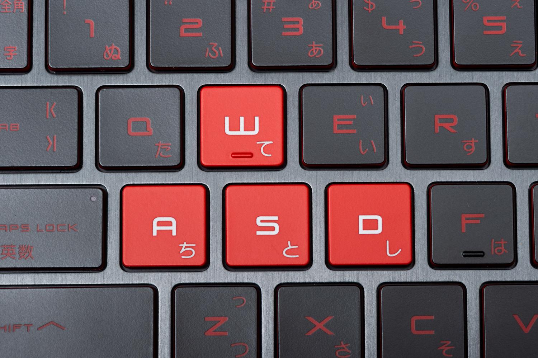 ゲーミングPCのキーボード