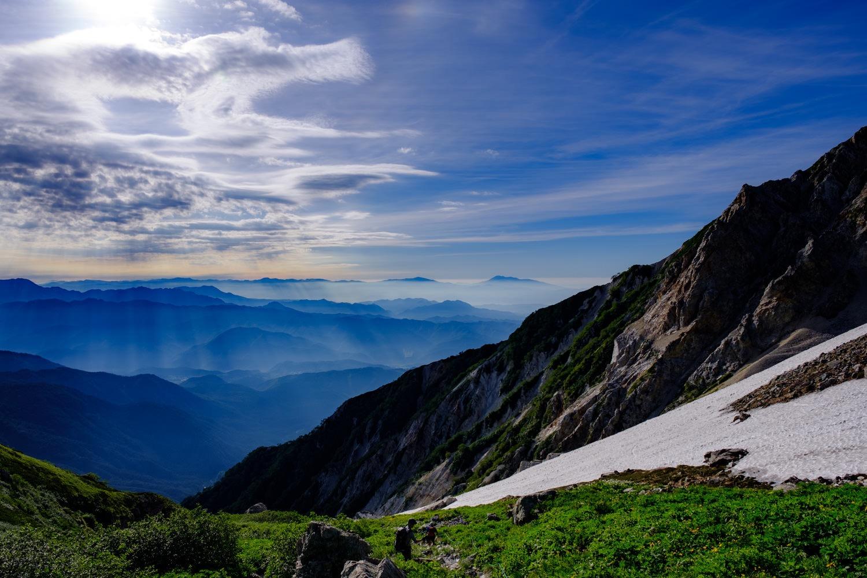 白馬岳から下山