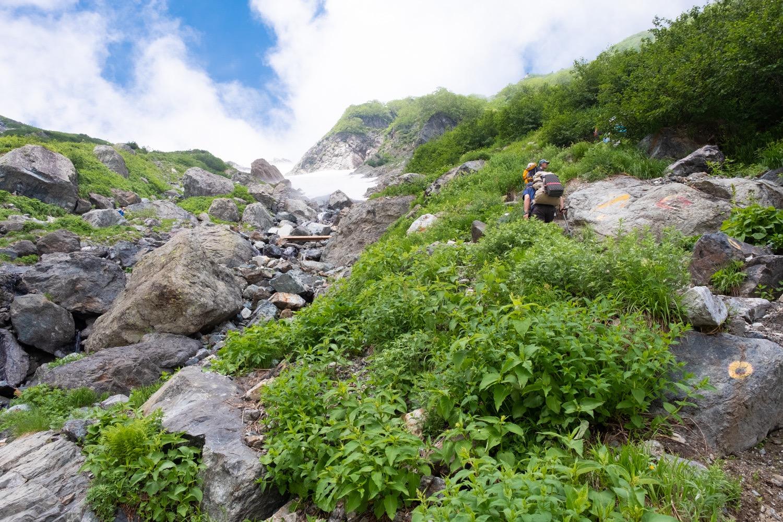 白馬岳の急登