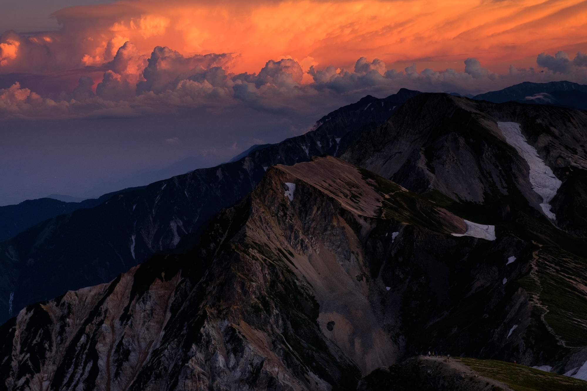 白馬岳の夕焼け