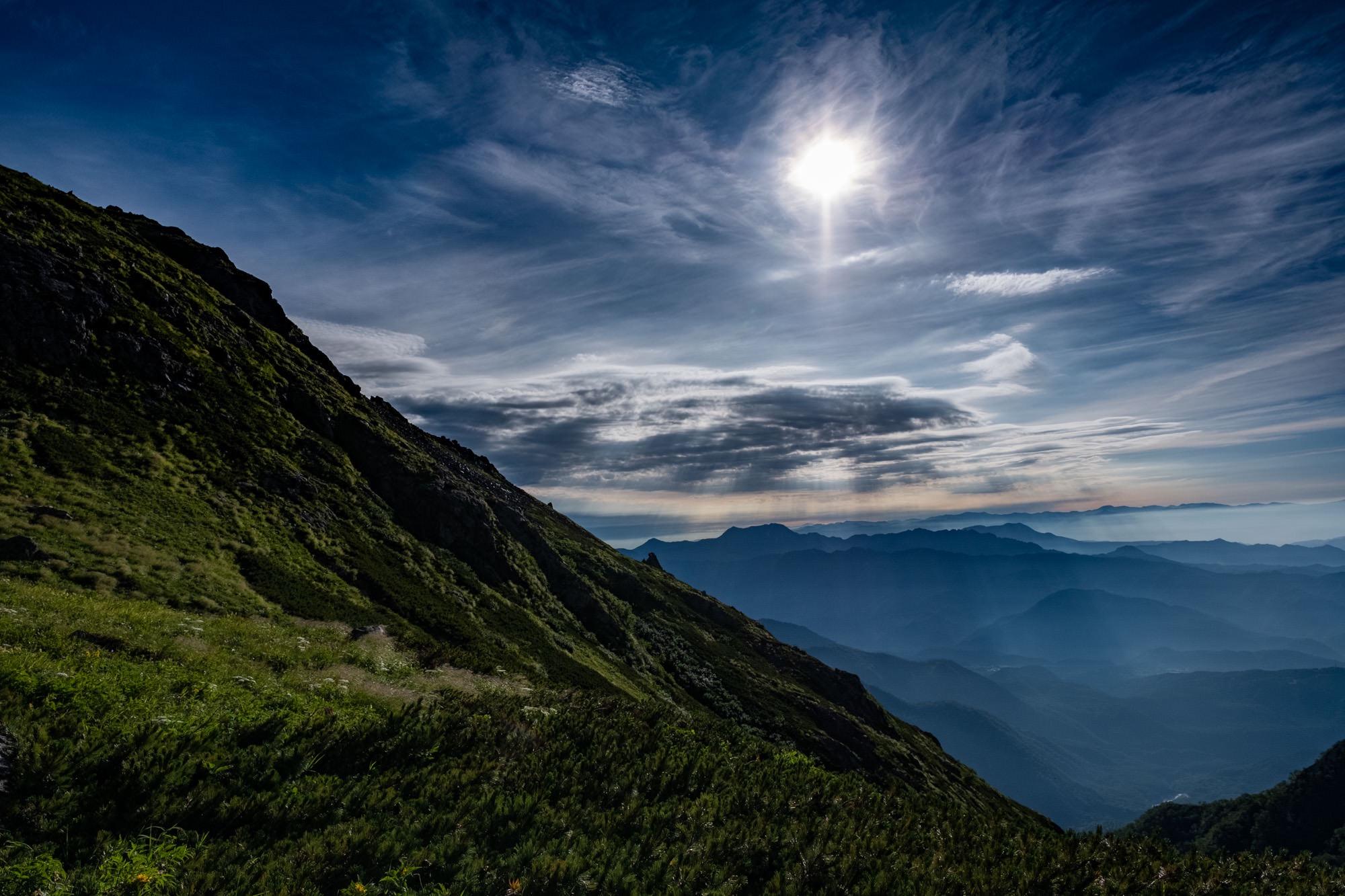 白馬岳の朝のはじまり