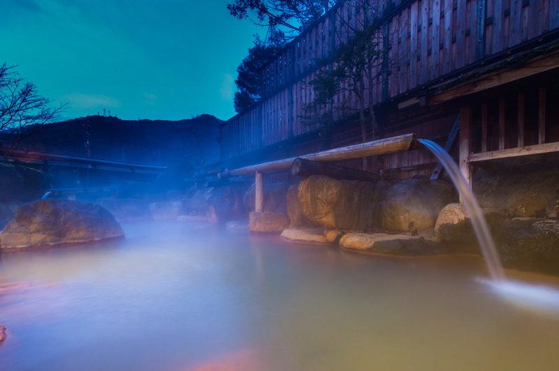 温泉撮影の時間帯はマジックアワー