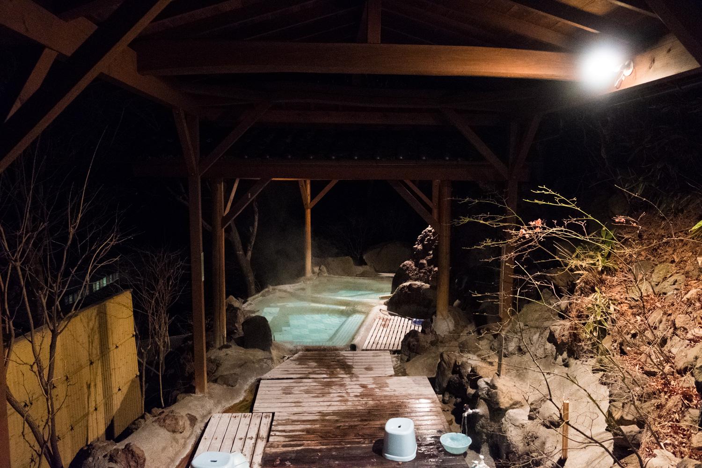 小斉の湯の露天風呂「見晴らしの湯」