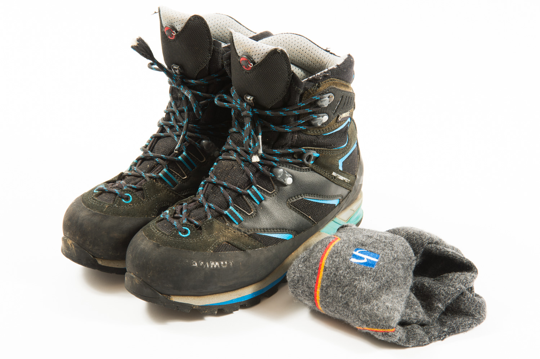 登山靴と靴下