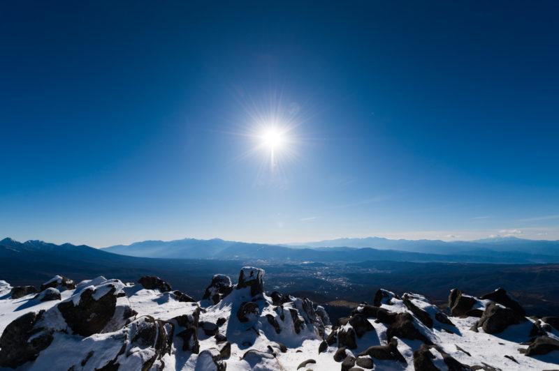 冬山初心者向けの蓼科山で登山したあと温泉を楽しんできた