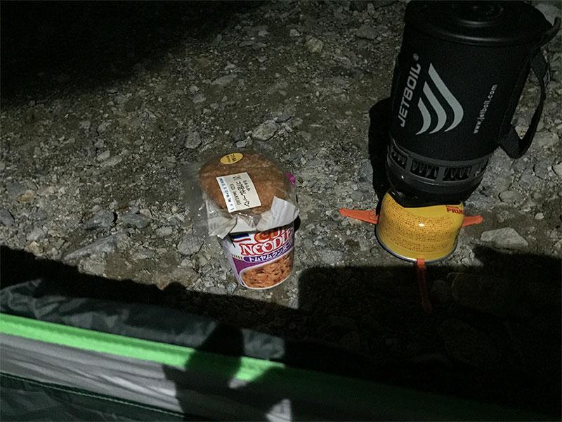 登山での食事はジェットボトルを使う